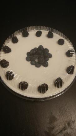 Pecan pie with chocolate