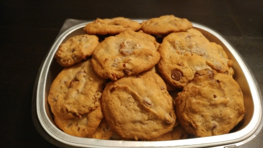 chocolate chip cookies with nuts and raisins